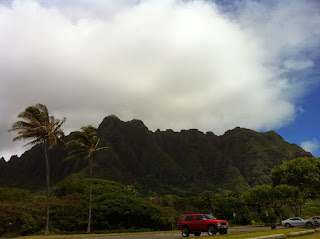 Picture of the Kualoa Mountains