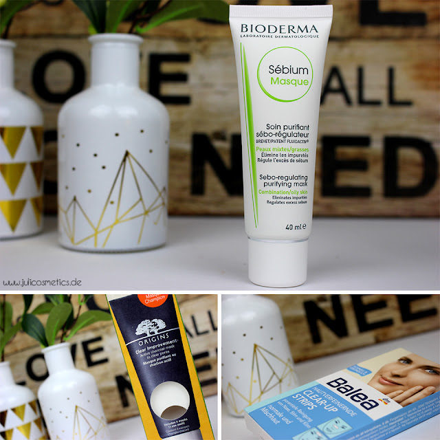 Bioderma-Sébium-Masque-Origins-Clear-Improvement-Balea-Hautverfeinernde-Clear-Up-Stripes