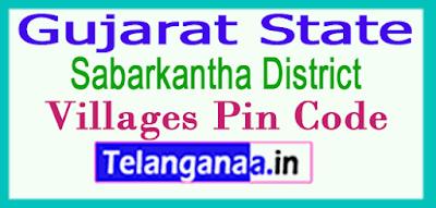 Sabarkantha District Pin Codes in Gujarat State