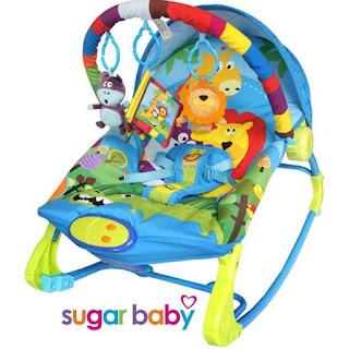 Sugar Baby 10in 1 Premium Rocker Rainbow Forest