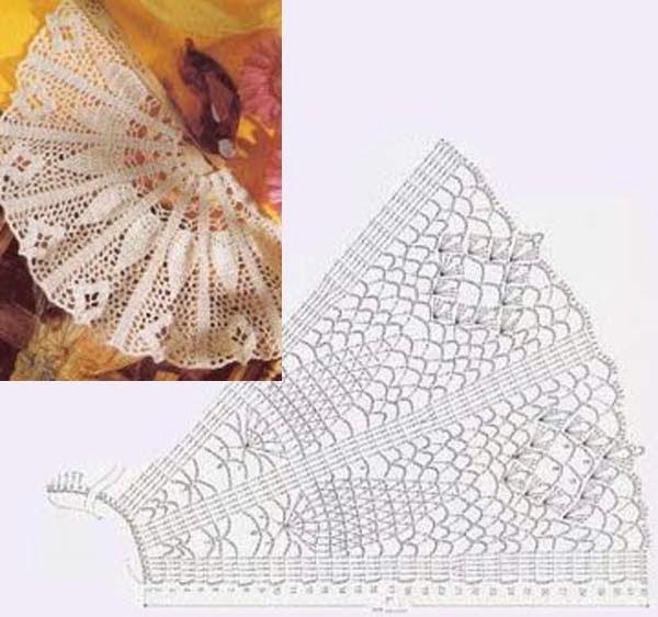 ergahandmade: Crochet Fans + Diagrams