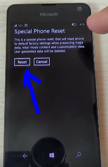 Code secret Microsoft Lumia 650 windows 10 code special reset