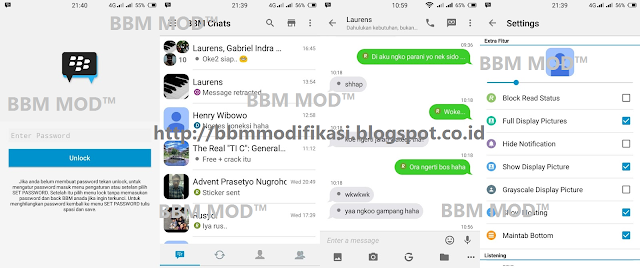 DOWNLOAD BBM Mod Ios Green Chat Themes V2.12.0.11 apk