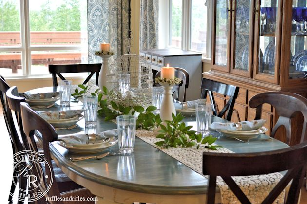 Ruffles & Rifles- Table Reveal-Treasure Hunt Thursday- From My Front Porch To Yours
