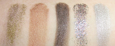 swatches pigmenti essence 01-02-03-04-05