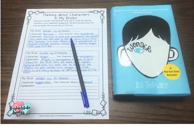wonder by rj palacio describing characters example