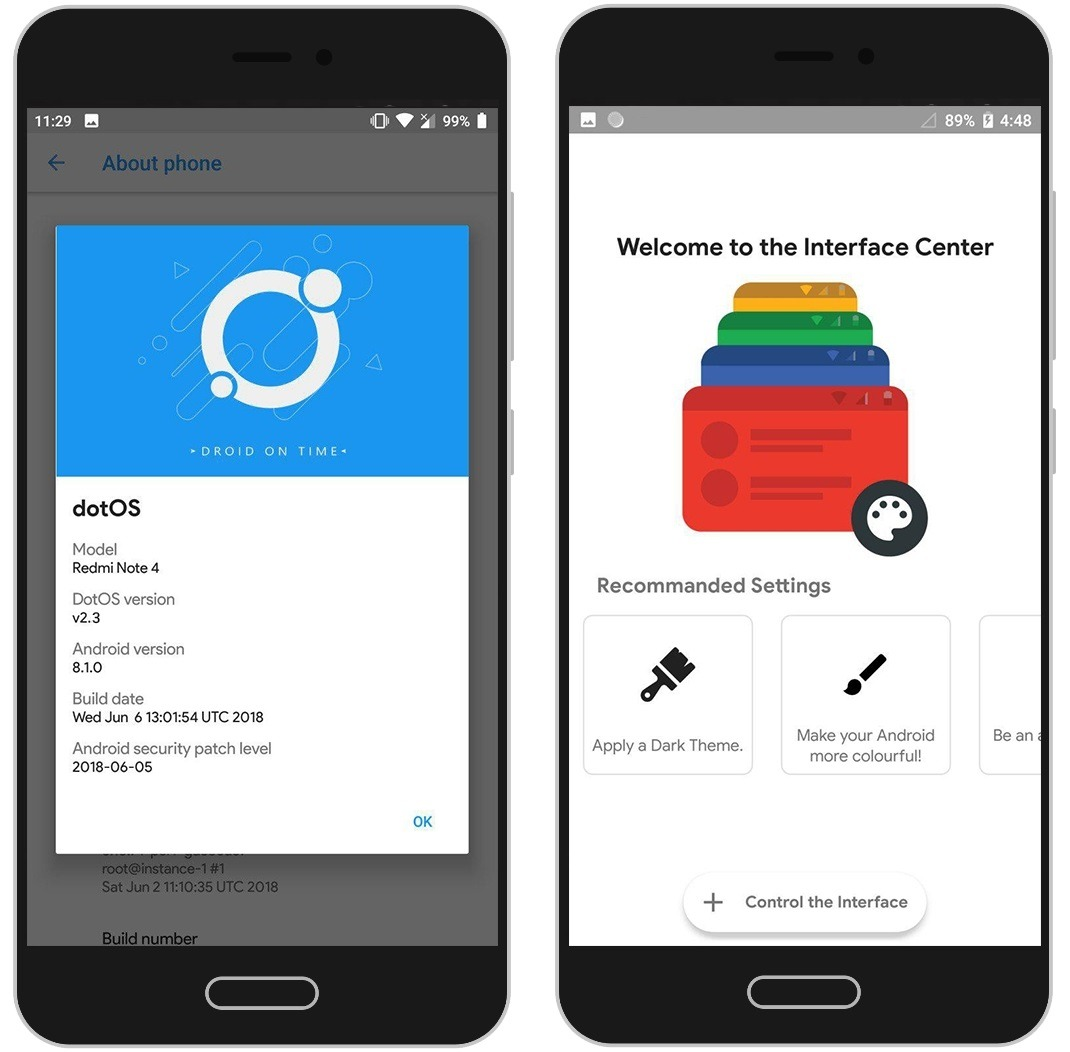 dotOS Updated With Android P Style QS Panel, June Security