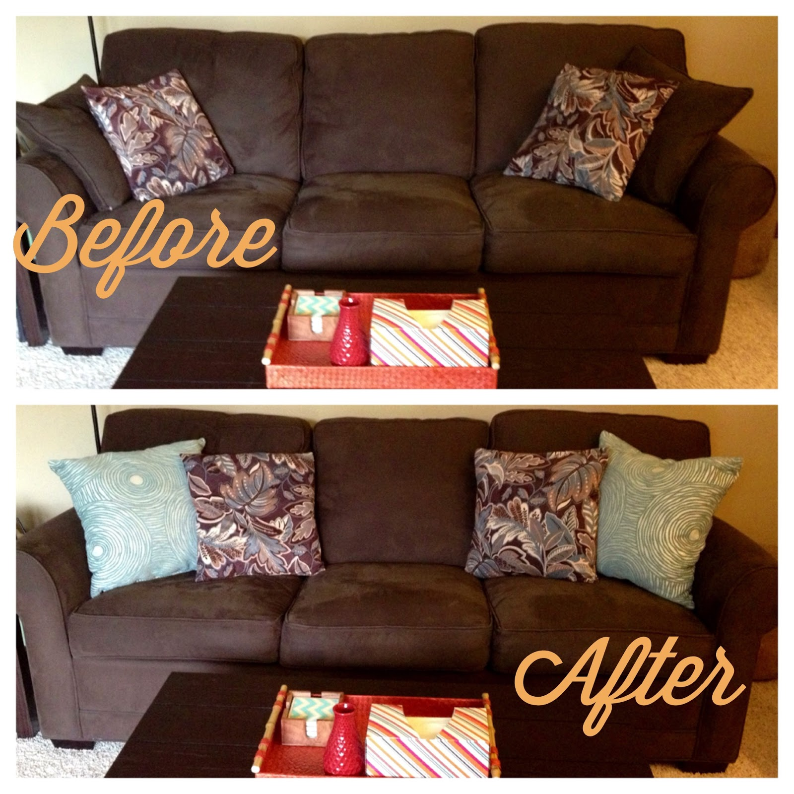 rugs to go with chocolate brown sofa cheers replacement parts my own twist on things little changes