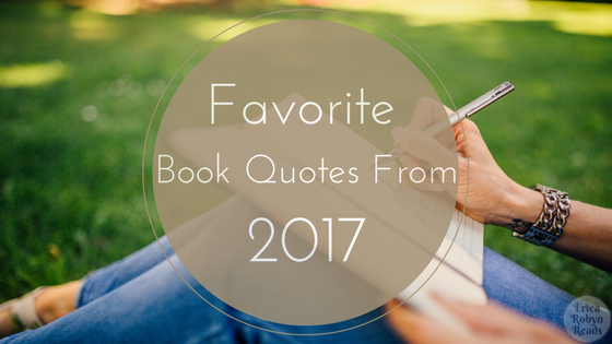 My Favorite Book Quotes from 2017