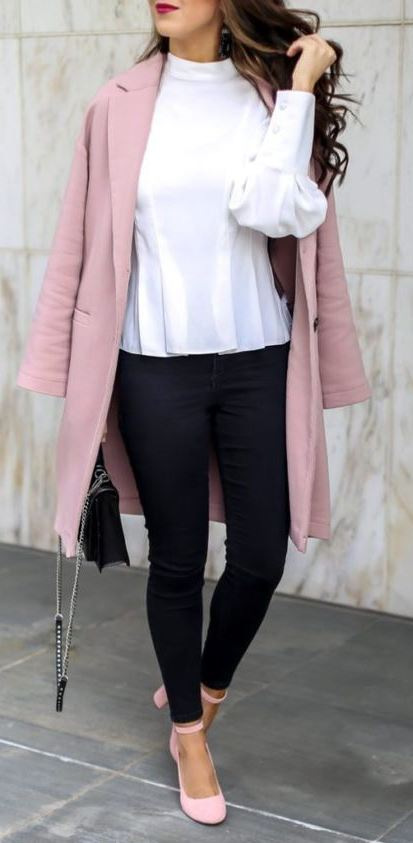 Classic Pink Coat And A Style For The Office