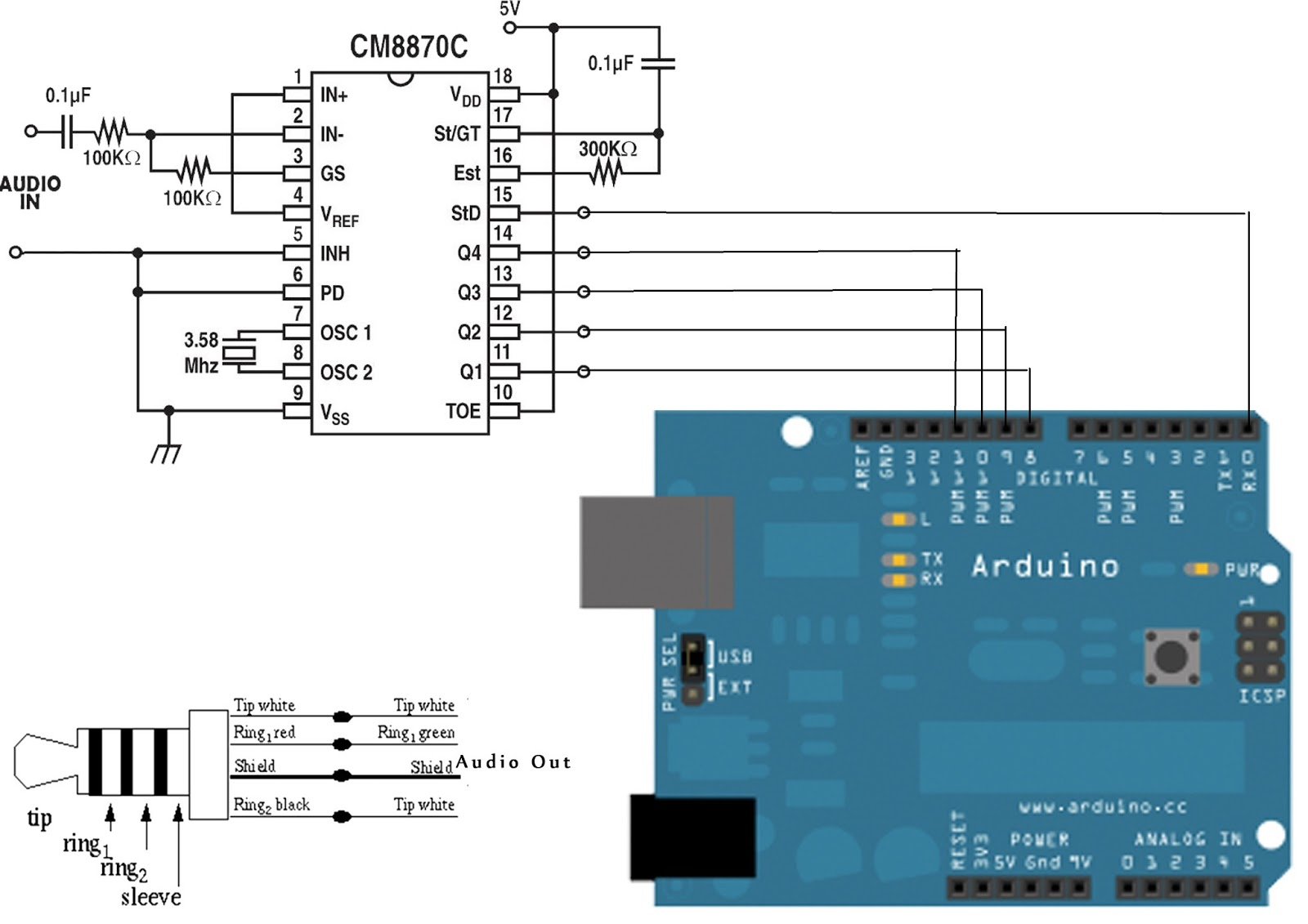 Lets Play With Arduino Dtmf Decoder Serial To Rj45 Wiring Diagram Get Free Image About