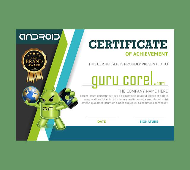 sertifikat cdr gratis bisa di edit