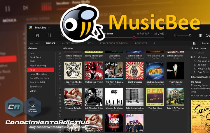 MusicBee [Freeware] - Un completo administrador y reproductor de música con múltiples funciones