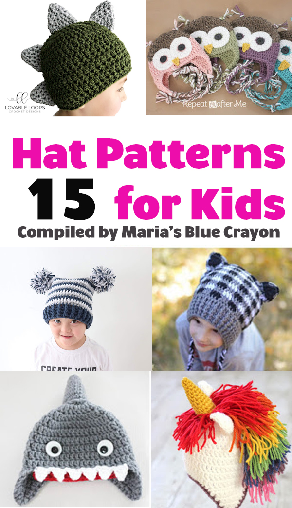 Best Fun Winter Crochet Hats for Kids - Free Patterns - Maria s Blue ... c22d21deaa7
