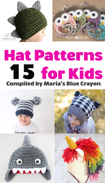Best Fun Winter Crochet Hats For Kids Free Patterns Marias Blue