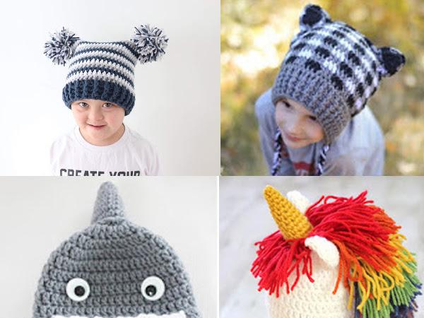 Best Fun Winter Crochet Hats for Kids - Free Patterns