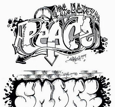 Graffiti Wall Graffiti Words Coloring Pages For Teenagers Free To