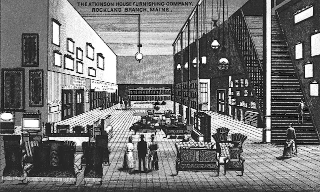 1890s retail store interior illustration
