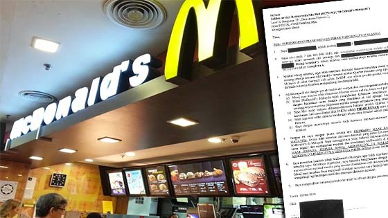 Wanita Fitnah McDonald's Malaysia Akhirnya Mohon Maaf
