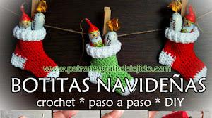 Cómo tejer botitas de Navidad / Paso a paso DIY