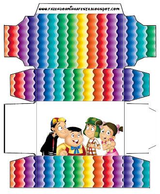 Cajas para imprimir gratis del Chavo del 8.