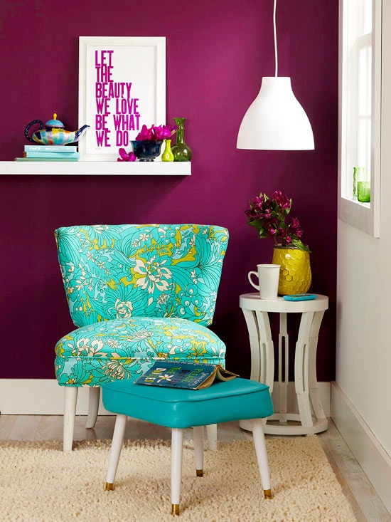 Decoração criativa e colorida em todos os ambientes. Blog Achados de Decoração