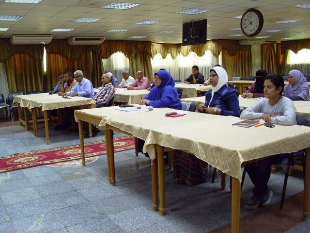 دورة تدريبية لتنمية مهارات العاملين بالاستحقاقات والمعاشات بالتأمين الصحى بنى سويف