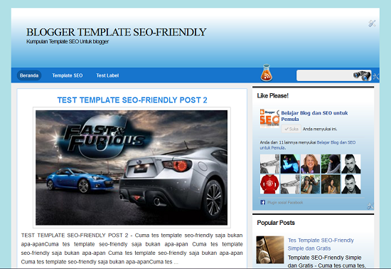Template seo-friendly simple ringan