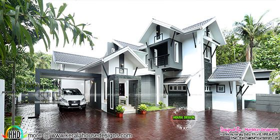 Furnished interior and exterior of 4 bedroom house