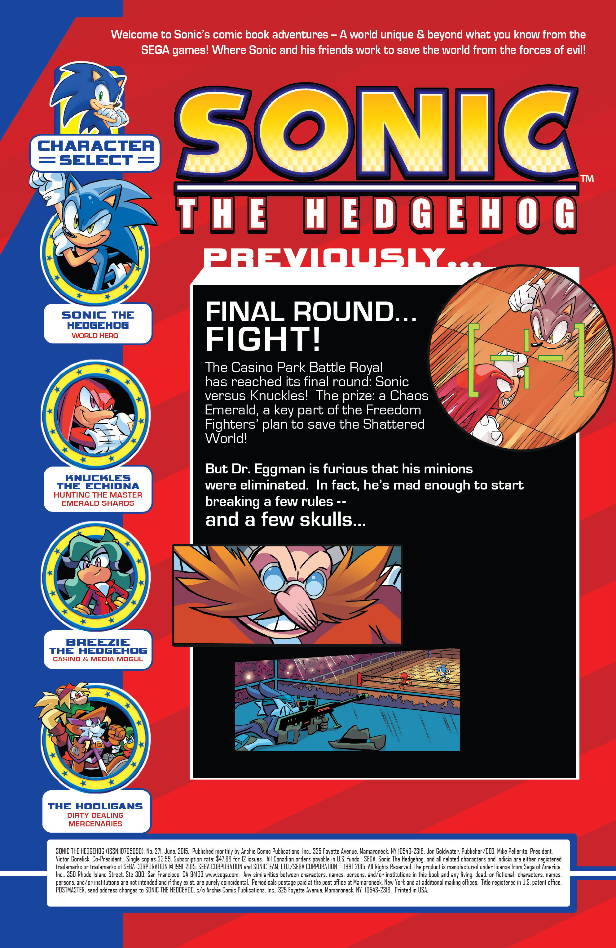 Read online Sonic The Hedgehog comic -  Issue #271 - 2
