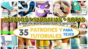 35 Patrones y Tutoriales de Zapatos y Botas para tejer / Colección