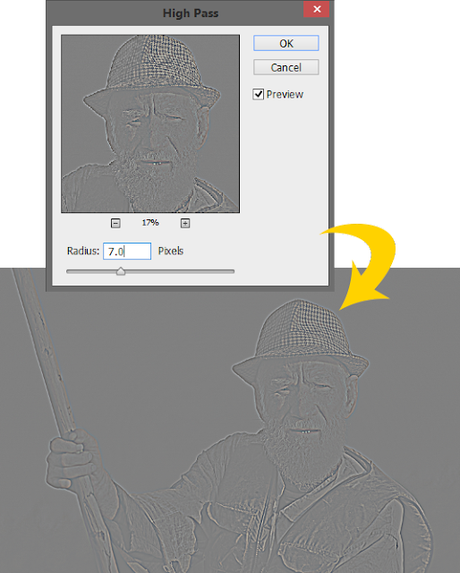 High-pass-filter-setting-to-sharpen-image-in-Photoshop
