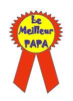 medaille super meilleur papa couleur