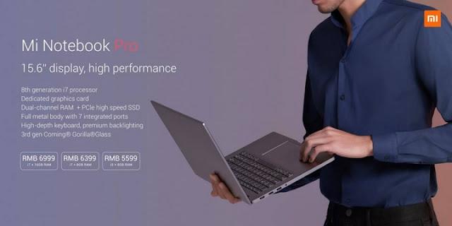 Mi Notebook Pro dengan Spec Tinggi
