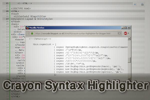 memasang Crayon Syntax Highlighter di blogger