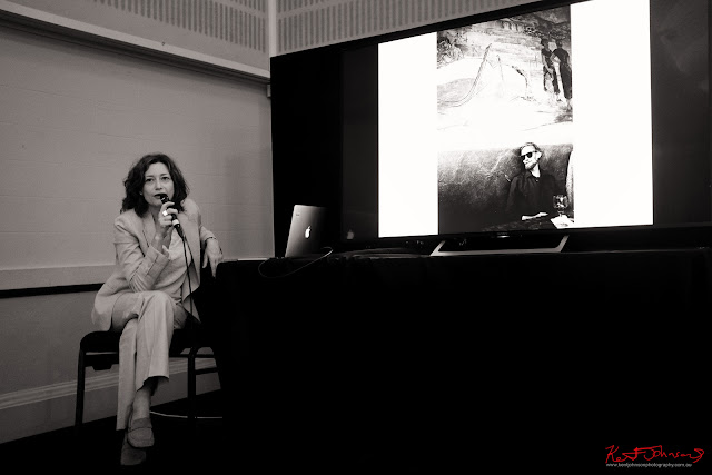 Dina Goldstein speaking at the Head on Hub - Photo by Kent Johnson for Street Fashion Sydney.