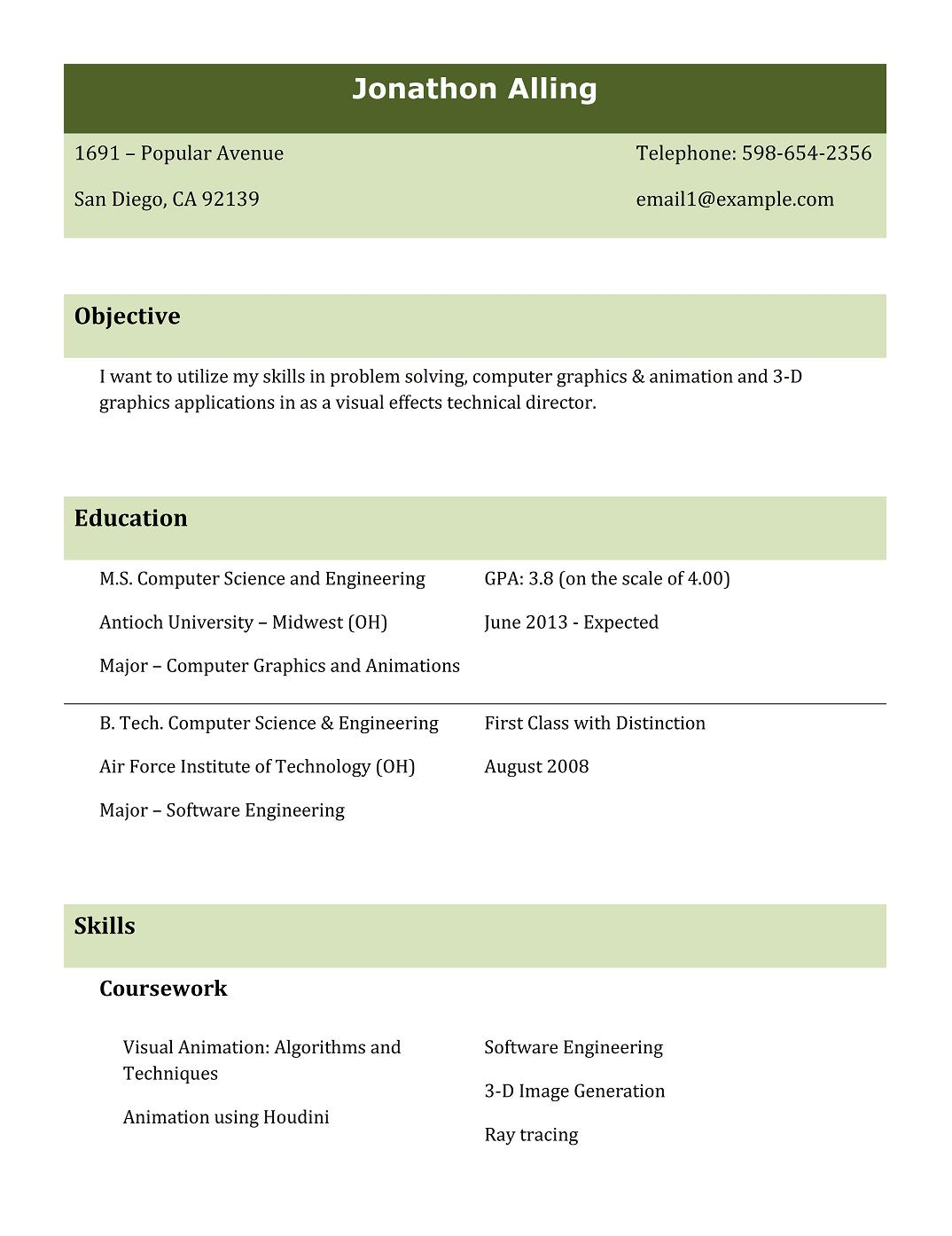 9 Best Free Resume Templates Download For Freshers