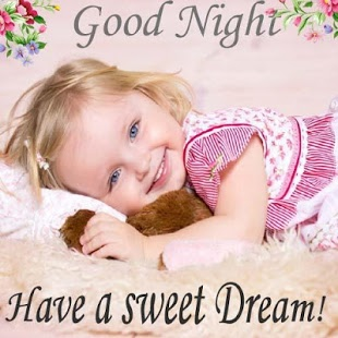 Baby Girl Good Night Wallpaper