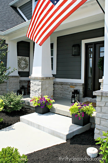 Modern craftsman style front porch