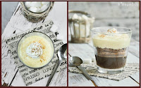 Trifle de café, chocolate y crema