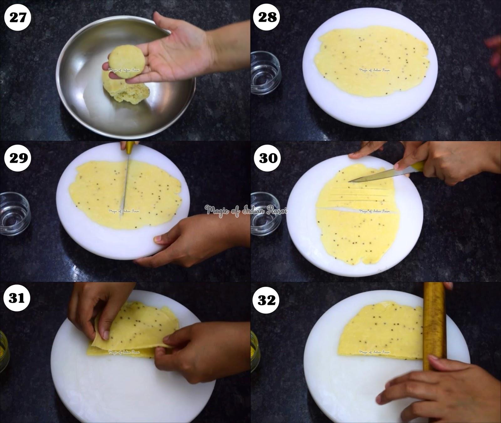 Striped/Layer Aloo Samosa - Khasta Aloo Layered Samosa Recipe - खस्ता लहरिया आलू समोसा रेसिपी - Priya R - Magic of Indian Rasoi
