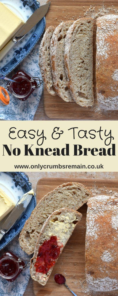 Grab this no knead bread recipe, which has a lovely aerated structure and delicious crust.  It's perfect for making a sandwich, serving with soup or a salad, or simply toasted.