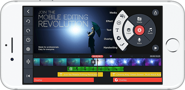 Explain the Kinemaster application for professional editing and filmmaking for Android