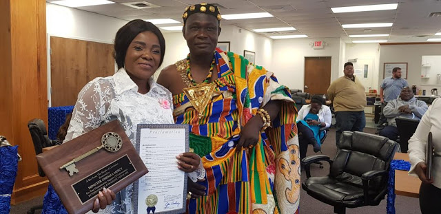 Gospel Musician, Ohemaa Mercy Receives Key To City Of Cincinnati In America