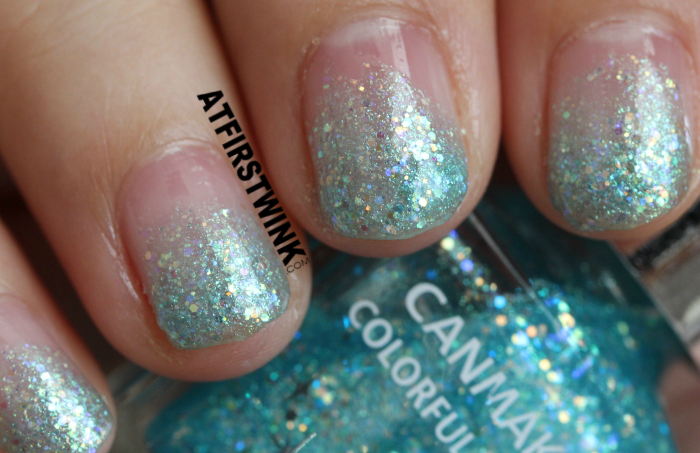 NOTD: Disney Cinderella film inspired nails (used canmake colorful nails 28) - close up