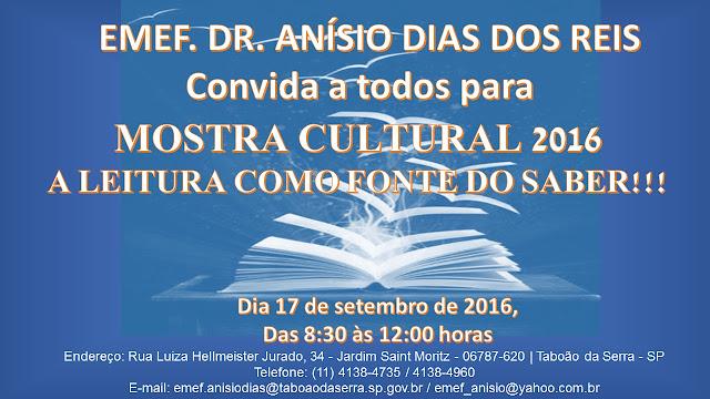 Convite Mostra Cultural 2016