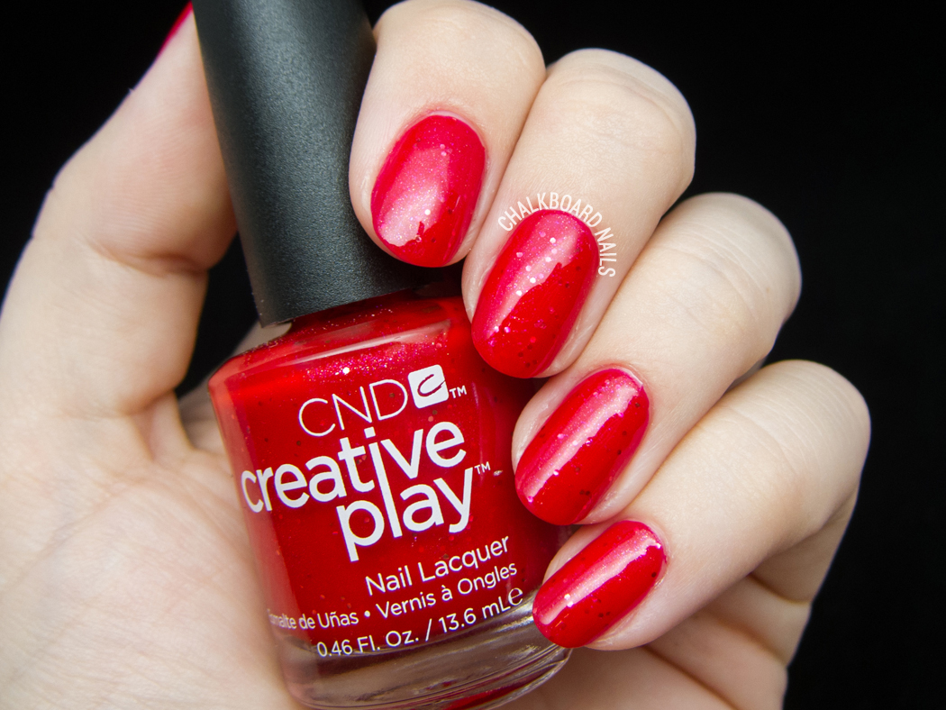 CND Creative Play - Revelry Red @chalkboardnails