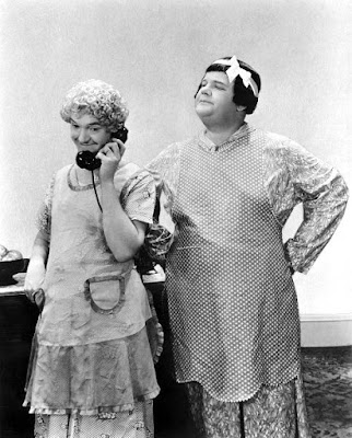Laurel and Hardy in drag