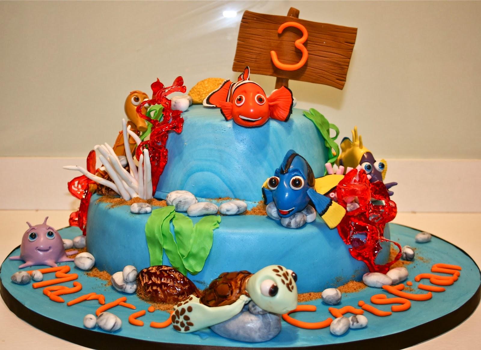 Torta Nemo e i suoi amici per un compleanno al quadrato!   Ale