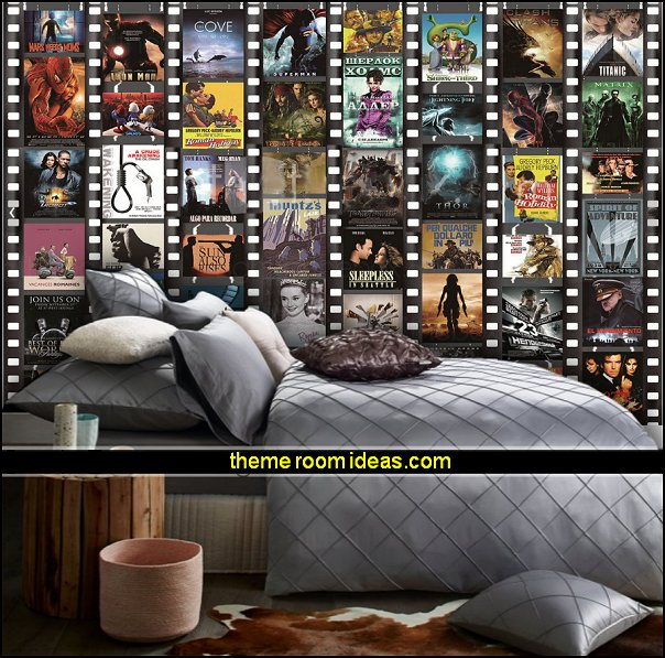 Movie themed bedrooms - home theater design ideas - Hollywood style decor - movie decor -  Film decor - home cinema decor - movie theater decor